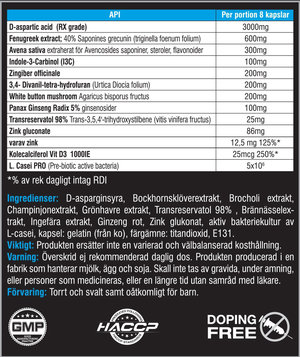 Swedish Supplement Testo Up 200 caps
